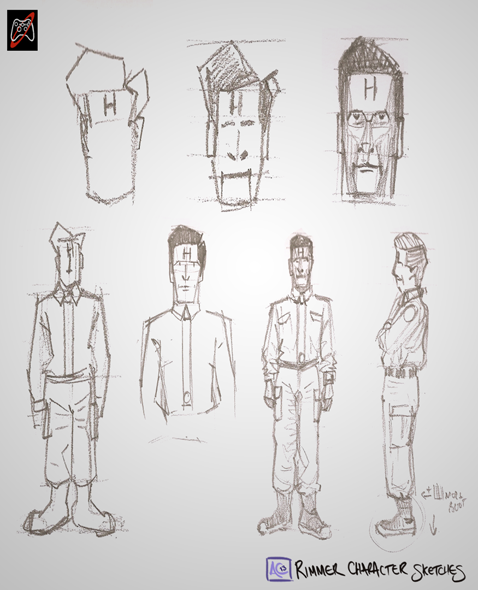 Rimmer Character Sketches